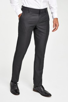 Charcoal Slim Fit Tuxedo Suit: Trousers