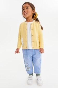 Yellow Miffy Crochet Cardigan (3mths-7yrs)