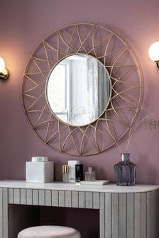 Gold Effect Wire Mirror