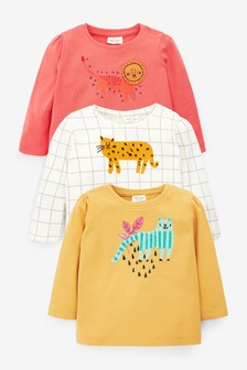 Multi Bright 3 Pack Character T-Shirts (0mths-2yrs)