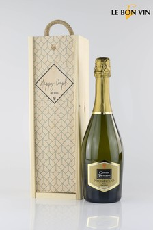Happy Couple Wedding Prosecco Gift Set by Le Bon Vin