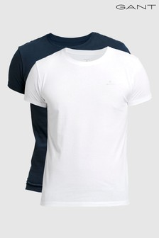 GANT Mens Basic Crew Neck T-Shirts Two Pack