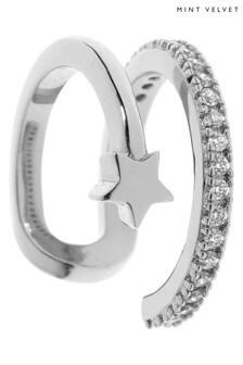 Mint Velvet Silver Star Layered Ear Cuffs