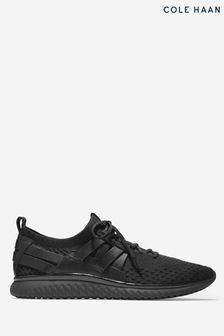 Cole Haan Black Grand Motion Woven Stitch Lace-Up Trainers