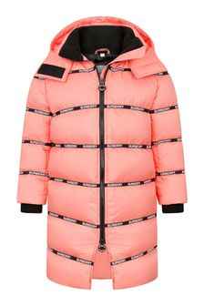 Girls Peach Padded Coat