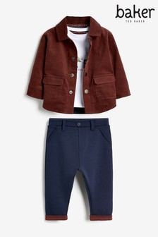 Baker By Ted Baker Cord Jacket, Trousers And Top 3 Piece Set
