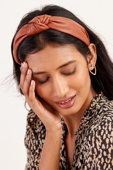 Tan PU Structured Headband