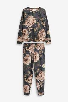 Dark Floral Cotton Pyjamas