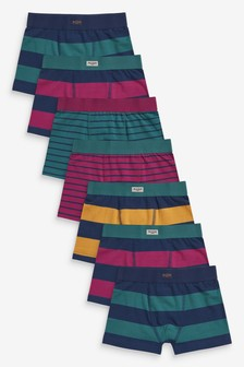 Multi 7 Pack Stripe Trunks (2-16yrs)