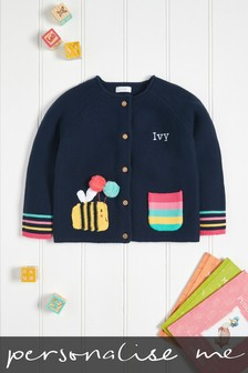 Personalised Bumble Bee Cardigan