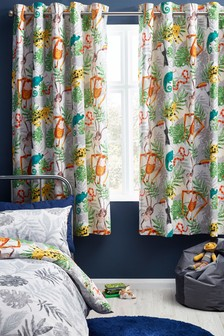 Jungle Friends Eyelet Blackout Curtains
