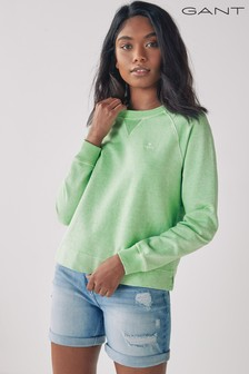 GANT Pastel Green Sunfaded Crew Neck Sweatshirt
