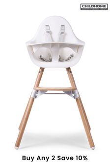 Childhome Evolu 2 Chair Natural and White