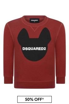 Kids Red Cotton Sweater