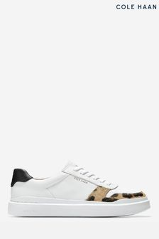 Cole Haan White Grandpro Rally Court Lace-Up Trainers