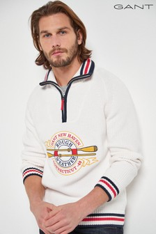 GANT Rough Weather Rib Half Zip Jumper