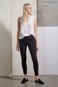 French Connection Black Street Twill Skinny Trousers