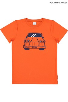 Polarn O. Pyret Orange Organic Printed T-Shirt