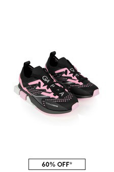 Girls Black Chunky Trainers