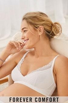 White Maternity & Nursing Forever Comfort® Bralette