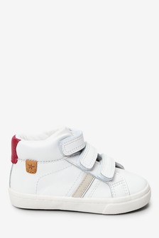 White Leather High Top Trainers (Younger)