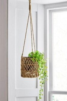 Hanging Woven Plant Pot