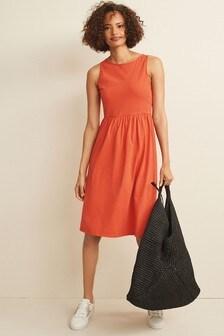 Red Sleeveless Sun Dress