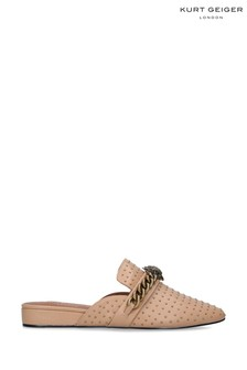 Kurt Geiger London Camel Chelsea Mule Shoes