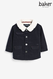 Baker by Ted Baker Navy Cord Shacket