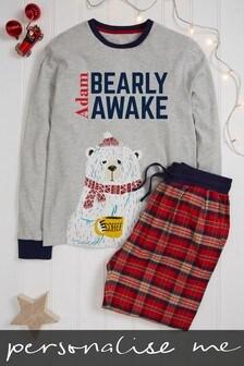Personalised Mens Family Pyjamas