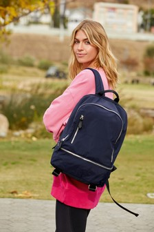 Navy Multiple Compartment Rucksack