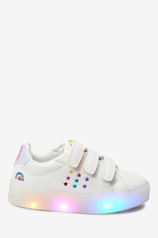 White Light-Up Trainers (Younger)
