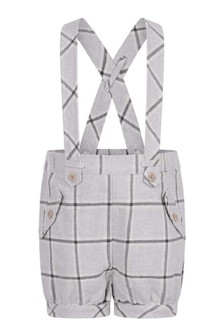 Baby Boys Grey Check Woven Shorts