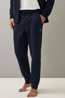 Crew Clothing Company Blue Fairford Joggers