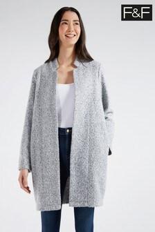 F&F Grey Epp Snit Coat