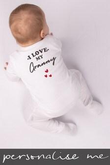 Personalised I Love My Granny Sleepsuit