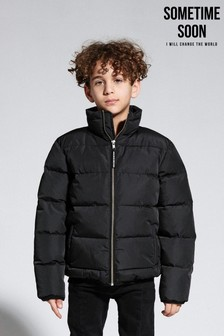 Sometime Soon Black Padded Jacket