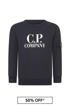 CP Company Boys Navy Cotton Sweater