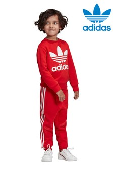 adidas Originals Little Kids Crew And Joggers Set