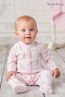 Kissy Kissy Pink Sophie La Girafe Frill Babygrow