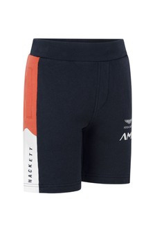 Boys Cotton Navy Shorts