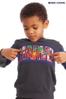 Fabric Flavours Blue Marvel® Logo Badgeable Sweatshirt