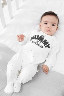 Mummy Superstar Family Single Sleepsuit (0-2yrs)