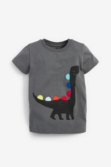 Black Short Sleeve Dino T-Shirt (3mths-7yrs)