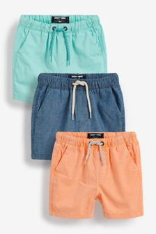 Brights 3 Pack Pull-On Shorts (3mths-7yrs)