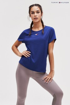Tommy Hilfiger Blue Workout Mesh Tape Top