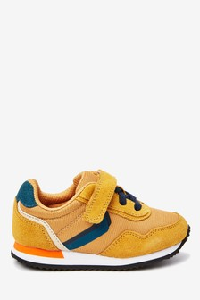 Ochre Elastic Lace Retro Trainers (Younger)