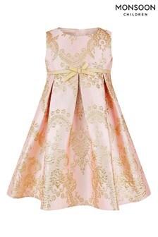Monsoon Pink Baby Rebecca Jacquard Dress