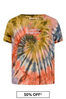 Girls Tie Dye Swirl Cotton T-Shirt
