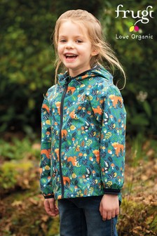 Frugi Blue Recycled Lightweight Packaway Jacket